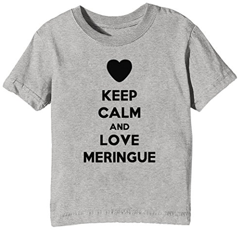 Keep Calm and Love Meringue Kids Unisex Boys Girls T-Shirt Grey Tee Crew Neck Short Sleeves All Sizes