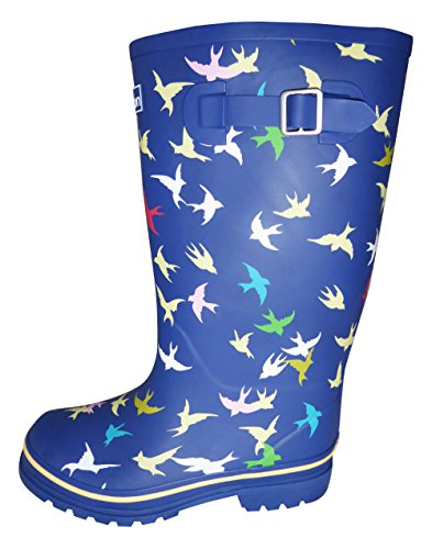 Jileon Wide Calf Wellies for Women fit up to 46cm Calves - Wide in Foot (EEE) and Ankle - Easy to Slip on and Off