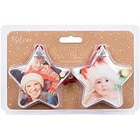 BelievE Paquete de 2 Bolas de Navidad, diseño al Azar