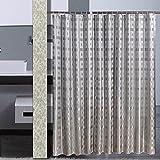 YY Duschvorhänge zurück Lattice Jacquard Duschvorhänge wasserdicht Mehltau dicker Duschvorhänge Plus Kabel Badezimmer Zubehör (Größe: 180*220cm)