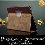 Tasche für Samsung GALAXY Note 10.1 Zoll (2014 Edition) SM-P600 P601 P605 Smart Slim Case Book Cover Stand Flip Tab PRO P600N P601N P605N (Braun) NEU