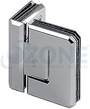 Ozone OSH-4 Steel Glass to Glass Hinge 90 Degree (Silver)