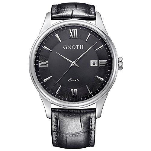 gnoth-mens-black-minimalist-sapphire-leather-watch-with-date-roman-numeral