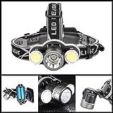 Scheinwerfer, hunpta Wasserdicht Super helle XM-L T6LED 5Modi Scheinwerfer Kopflampe, batteriebetrieben Helm Licht für Camping, Laufen, Wandern, Lesen, Bremsschuhe Jagd und Arbeit, schwarz