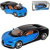 alles-meine.de GmbH Bugatti Chiron Coupe Blau Ab 2016 1/24 Maisto Modell Auto mit individiuellem Wunschkennzeichen