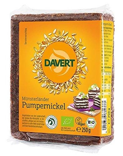 Davert Mühle Bio Münsterländer Pumpernickel (2 x 250 gr) (Schwarzbrot Kann)