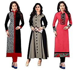 Pramukh Fashion latest Design style and pattern could be on the peak of your beauty as soon as you attire this Multi Colour Cotton Fabric Kurti for womens and girls. The ethnic work at the clothing garment adds a sign of attractiveness statement with...