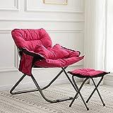WOF Single SMAFOLDING Sofa College-Schlafsaal Stuhl inBalcony und Schlafzimmer Folding Sofa-Stuhl (gelb) platziert Werden kann (Color : Rose red)