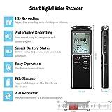 Dictaphone Enregistreur Numérique 8Go, ieGeek Enregistreur Audio Vocal HD Double Microphone, USB Rechargeable, Réduction de Bruit, Écran LCD, pour Conférence,...