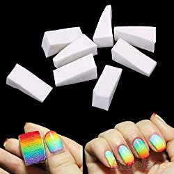 8pcs belleza uñas esponjas para acrílico manicura Gel uñas cuidado herramienta de bricolaje de UV