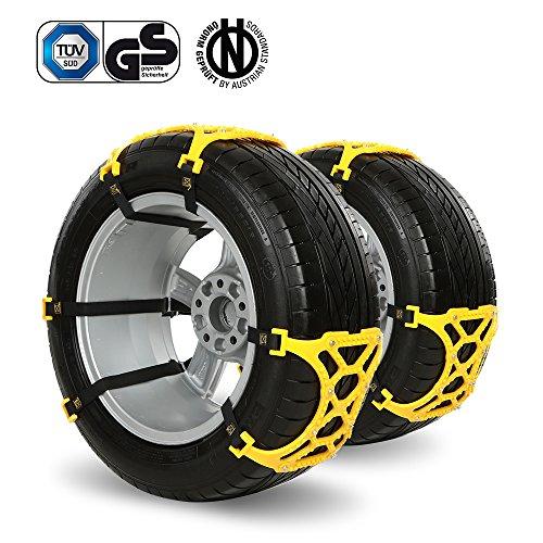 iRegro Auto Schneeketten Anti-Rutsch Ketten, Fit für die meisten Auto / SUV / LKW / Truck - Set von 6, Einfach zu Installieren