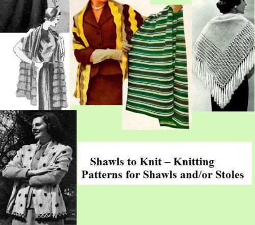 Schal zu stricken-stricken Muster für Schals und Stolen
