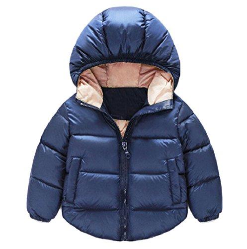 Amcool Schön Baby Mantel Jacken Oberbekleidung Kinderkleidung Junge Mädchen Warm Winter Schneekugel (0-6 Monatlich, Marine)