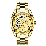 Herren Wasserdichte Automatische Vergoldete Skeleton Uhr Leuchtende Luxus Mechanische Uhren für Männer