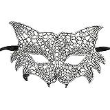 Rokoy Maschera di Pizzo Masquerade Maschera Merletto Sexy Travestimento Veneziano di Carnival Party Fronte della Sfera degli,Maschera di Volpe di Appello di Halloween Eye Eye Mask