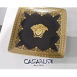 """'Versace Coppetta Quadra 12cm I Love Baroque negro """""""