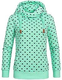 Logobeing Chaqueta Suéter Abrigo Jersey Mujer Otoño Invierno Tops Blusas de Manga Larga Mujer Casual Sudadera con Capucha Mujer
