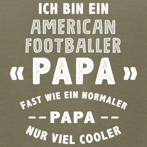 Ich bin ein American Footballer Papa - Herren T-Shirt - 13 Farben Khaki