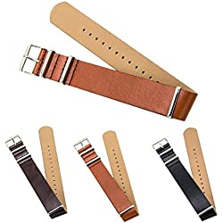 CIVO Premium Leather NATO Watch Strap Zulu Military Swiss G10 Watch Band 18mm 20mm 22mm Standard & Extra Long