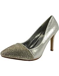Loudlook Nouveau Femmes Dames Haut Talon Aiguille Party Night Out Cour Chaussures Talons Taille 3-8