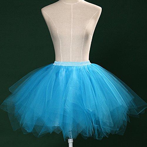 Tutu Frauen und Mädchen Ballettröckchen Röcke Prinzessin Ballett Pettiskirt Performing Dress Dancewear Unterröcke Blue