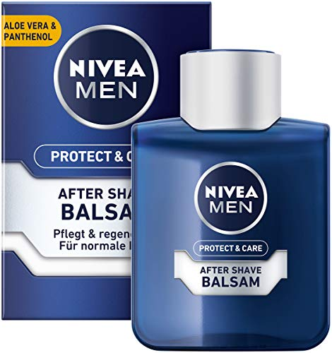 NIVEA MEN Protect & Care After Shave Balsam im 4er Pack (4 x 100 ml), beruhigendes After Shave, Hautpflege nach der Rasur mit Aloe Vera und Panthenol