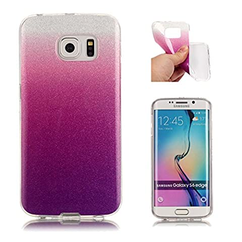 Coque Samsung Galaxy S6 Edge Bumper, Aeeque® Ultra-mince Motif Bling