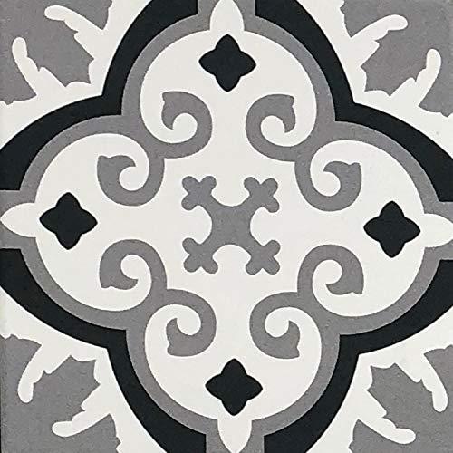 """Orientalische marokkanische Wandfliese Bodenfliese Zementoptik Motivfliese aus glasiertes Feinsteinzeug Fliese""""DIALA"""" 20 x 20 cm"""