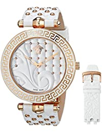 Versace Women's Quartz Watch VK7010013 VK7010013 with Leather Strap