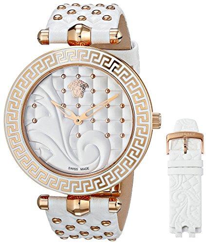 Versace Damen-Armbanduhr VANITAS Analog Quarz Leder VK7010013