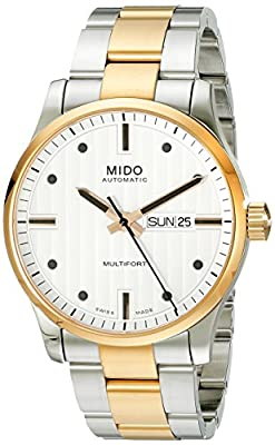 Mido Multifort M0054302203102 Watch – For Men, Silver Stainless Steel Strap