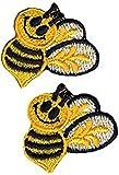 Simplicity Bumble Bees Motif Applique - per pack of 2
