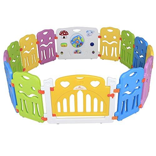 Sungle Box modurabile espandibile , Diverse forme possono essere costruiti, Recinto per la Sicurezza del Bambino. 8 pezzi/12 pezzi/14 pezzi/18 pezzi. (L 14 pezzi)