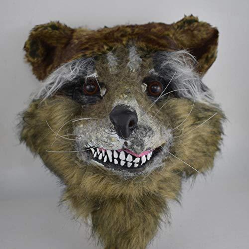 Kostüm Clown Männlich - JRKJ Rocket Waschbärenmaske Gruselige & Lustige Masken - Perfekt Für Karneval & Halloween - Unisex-Kostüm Für Alle, ClownMännliche Maske, Weibliche Maske