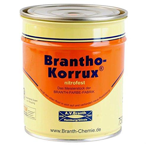 Preisvergleich Produktbild Brantho Korrux nitrofest 0, 75 l 7016 Anthrazitgrau