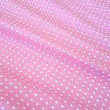 Stoff Baumwollstoff Baumwolle Popeline Punkte gepunktet Tupfen rosa weiß weiss