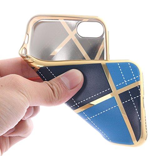 iPhone Case Cover Pour iPhone 7 Rhombus tissu Pattern électrodéposition TPU cas de protection ( SKU : Ip7g7915bc ) Ip7g7915dl