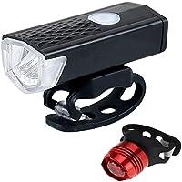 Luz de bicicleta,luz de bicicleta recargable,Mountain Bike USB resistente a la luz de la bicicleta, luz de la cola de la luz trasera LED Bike Light Set,Luz total durante 3 horas, media luz durante 5 h