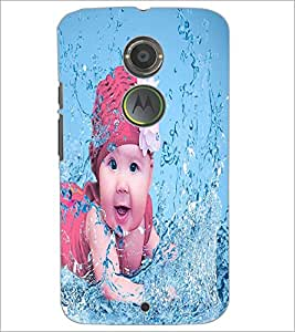 PrintDhaba Cute Baby D-2817 Back Case Cover for MOTOROLA MOTO X2 (Multi-Coloured)