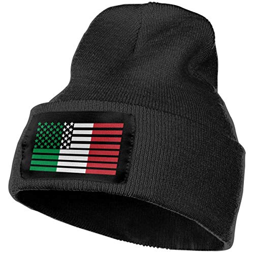 Fashion New warm Unisex Men & Women American Italian Flag1 Outdoor Fashion Knit Beanies Hat Soft Winter Knit Caps (Kit Girl Outfit American School)