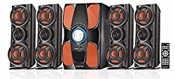 kingvox 4.1 Speakers With 6.5Inches Sub Woofer For Deep bass , Pack Of 4