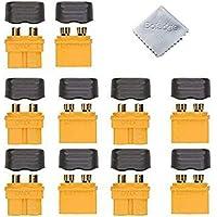 Boladge Enchufe del conector de la cubierta de la envoltura de 5 pares XT60H, terminal de descarga de la batería de litio para el modelo de la batería de Rc Lipo RC y más