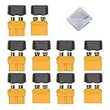 Boladge 5 Paar XT60H Mantel Gehäuse Stecker, Lithium Batterie Entladeanschluss für Rc Lipo Batterie RC Modell Und Mehr