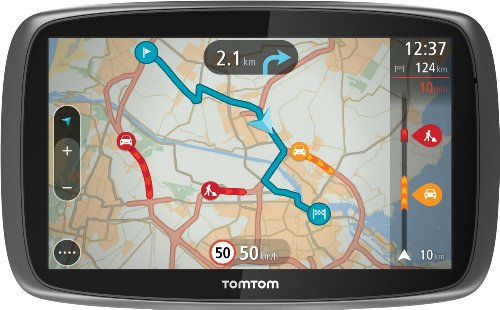 TomTom GO 600 Europe Traffic Navigationssystem (15 cm, (6 Zoll) kapazitives Touch Display - Bedienung per Fingergesten, Lifetime TomTom Traffic & Maps) (Tom Tom Lifetime Maps)