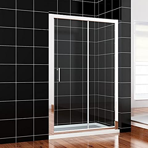 1200mm Sliding Shower Enclosure Glass Screen Door Cubicle Bathroom+Stone Tray(1200x700mm) by sunny showers