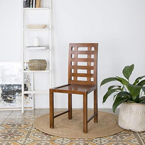 Siena Chaise Teck - Bois - 48x51x100 cm - Couleur Teck