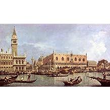 """Stampa artistica / Poster: Giovanni Antonio Canaletto """"The Molo and the Piazzetta San Marco, Venice"""" - stampa di alta qualità, immagini, poster artistici, 95x55 cm"""