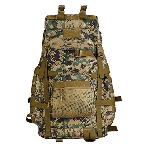 TnXan 55L Tactical Military MOLLE Assault Rucksack Pack Große wasserdichte Tasche Rucksack Sport Outdoor-Ausrüstung für die Jagd Camping Trekking Casual Daypacks