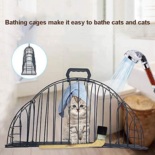 12 Doppel-draht (GCDN Katze Bad Käfig, Dusche Multifunktionale Doppel Tür Durchführung Behandlung Cage. Anti-Scratch. Käfig für (Gewicht Weniger als 3 Pfund), für Zuhause/Haustier Store, Usw.)