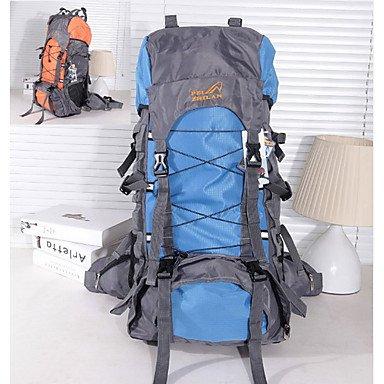 55 L Rucksack Camping & Wandern Draußen Wasserdicht Grün Rot Schwarz Hellblau Orange Nylon Others Black